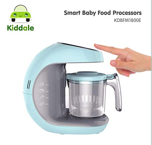 Kiddale 5in1 Smart Digital Baby Food Processor – Steamer, Blender, Grinder with Intelligent Touch Panel, Anti-Dry…