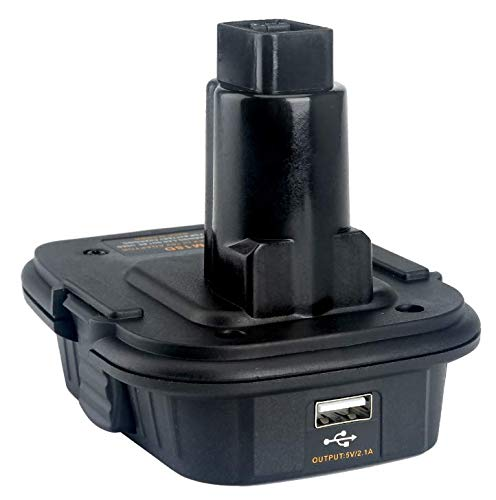 Cell9102 DM18D for DCA1820 with USB Adapter,Convert Dewalt 20V DCB200 ro Milwaukee M18 to Dewalt NICD & NIMH DC9096 Battery