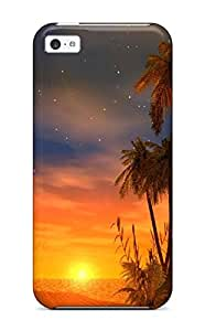 Best Top Quality Case Cover For Iphone 5c Case With Nice Sunsets S Appearance