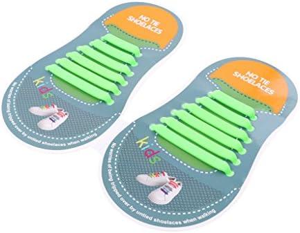 子供 シューケア シューアクセサリー シリコーン製 靴ひも 伸縮性 防水 セット 全11色