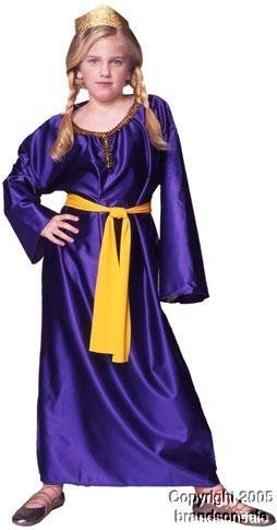Child's Queen Esther Girl's Costume (Size:Small 46) by RG Costumes