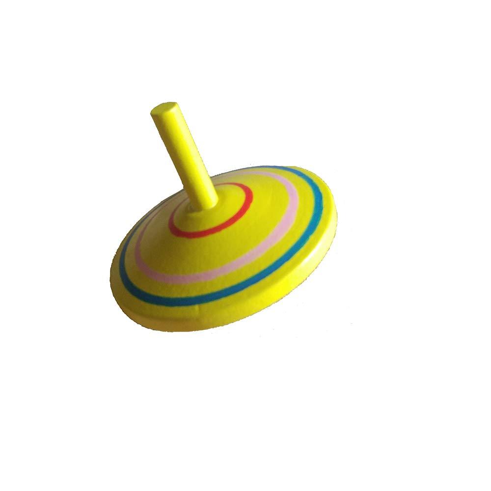 Geloo Gyroscope, Handmade Painted Wood Spinning Tops, Wooden Toys Educational Toys Kindergarten Toys Standard Tops