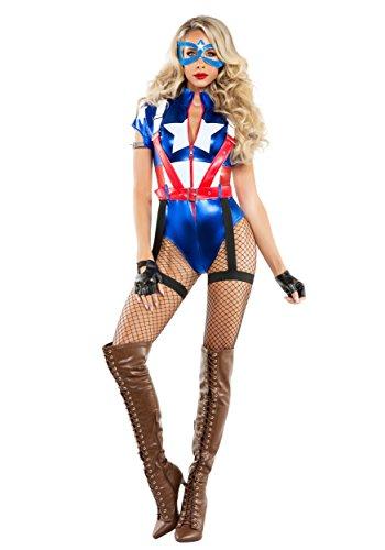 Starline, LLC. womens Women's Captain USA Costume Medium