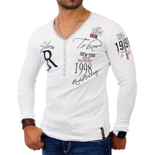 Redbridge Herren Longsleeve R-1643 Weiß Größe S