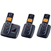 Motorola L703M Dect 6.0 Cordless Phone with 3 Handsets and Digital Answering System