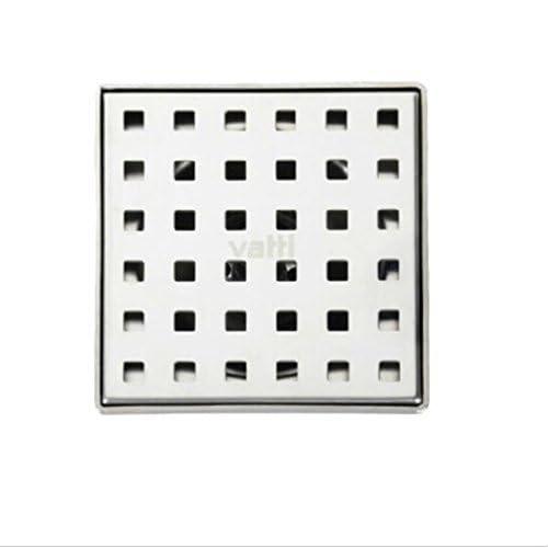 "New Odor-proof Stainless Steel Floor Drain Bathroom 4"" Shower Floor Drain Cover,Dark Khaki #627 best"