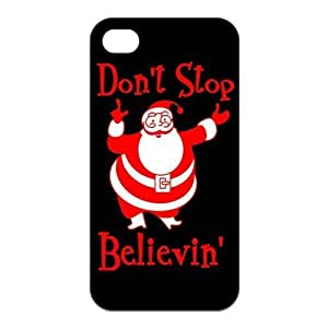 LeonardCustom Durable Protective TPU Rubber Fitted Cover Case for iPhone 4/4S , Don't Stop Believing