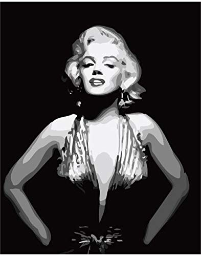 Kits Paint Adult Hand Painted Oil Paint DIY Painting By Numbers-Marilyn Monroe 16
