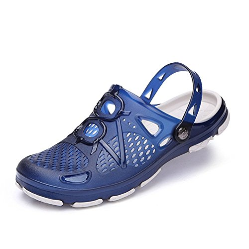 Rainrop Mens Garden Shoes Summer Breathable mesh Slippers Adjustable Straps Beach Water Sandal Pool Shoes