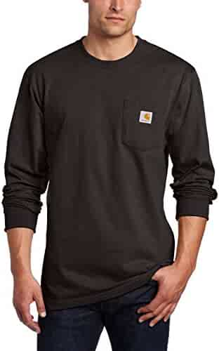 Carhartt Men's Workwear Midweight Jersey Pocket Long-Sleeve T-Shirt K126