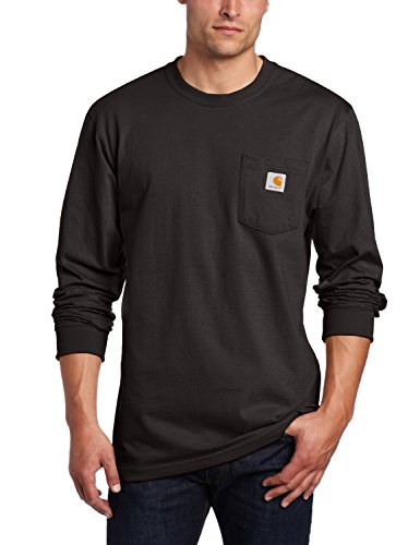 Carhartt Men's Workwear Pocket Long Sleeve T-Shirt Midweight Jersey Original Fit K126,Black,Large