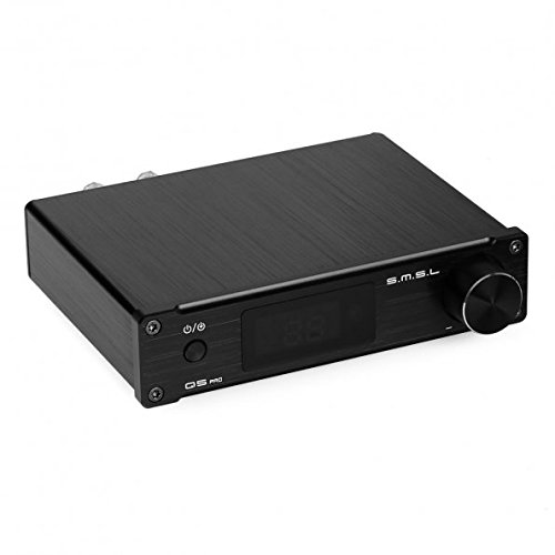 SMSL Q5 Pro Digital Amplifier 2 - 50W USB/Coaxial/Optical with Remote Control - Black by SMSL