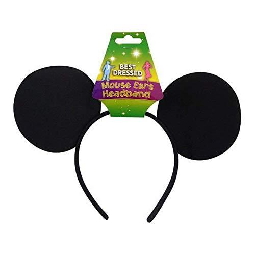 Black Felt Mouse Ears On Headband ()