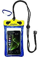 Kwik Tek DP-46 Case for Cellphones, GPS and Mp3 - Yellow / Blue