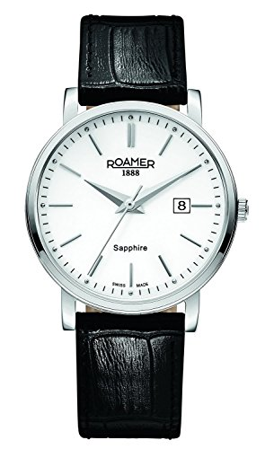 Roamer 709856-41-25-07 Mens Classic Line Black Leather Strap Watch