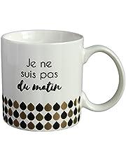 LA CARTERIE Mug cadeau à message  Je ne suis pas du matin