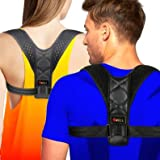 4well Posture Corrector for Women Men - Rounded Shoulders Slouch Brace Designed in USA - Wearable Posture Support Straps for Upper Back - Fix Posture