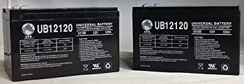 UPG - 12V 12AH SLA BATTERY REPLACEMENT FOR GS PORTALAC WHEELCHAIR BATTERY - 2 PACK - UB12120F2MP222
