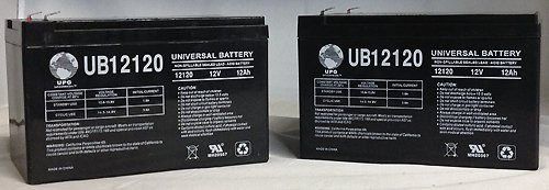 12V 12Ah Pride Mobility Sonic SC50, SC52 Battery - 2 Pack by Universal Power Group