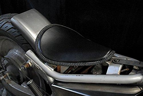 部品屋K&W magna (マグナ) 250専用ソロシートKIT リジットタイプ (本革レース編み込みサドルシート) タン P22501   B01GZQ1D76