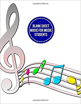 Amazoncom Blank Sheet Music For Music Students Music