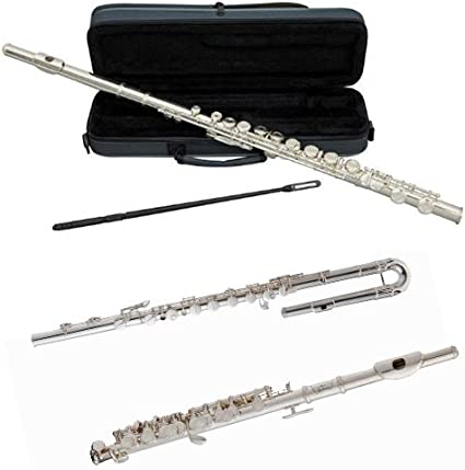 SILVER PLATED  with Case /& Accessories BAND C FLUTE