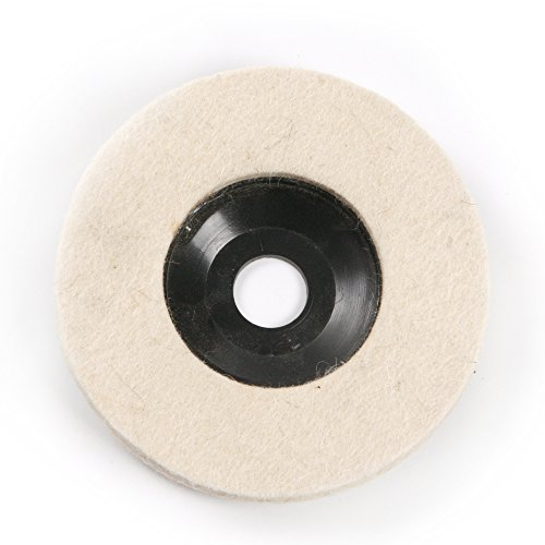 Atoplee 10pcs Diameter 100mm Wool Buffing Polishing Wheel Pad Buffer Disc Bore Dia 16mm