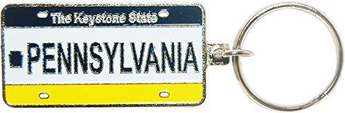 (Pennsylvania License Plate Souvenir Keychain)