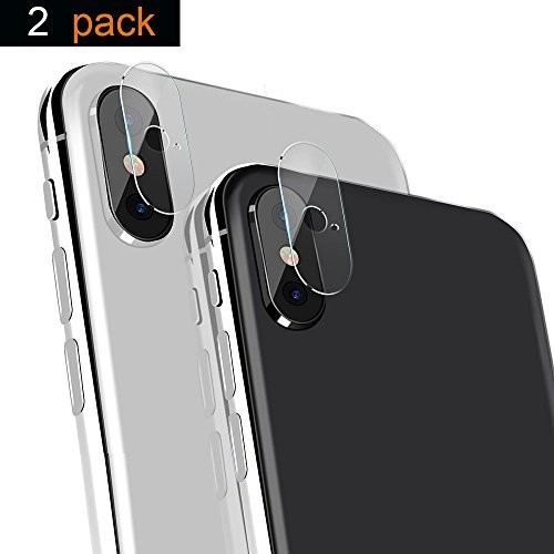 iPhone X Camera Lens Protector, iPhone X Camera Screen Protector 2 Pack 9H Hardness Anti-Scratch Explosion-proof Tempered Glass Protective Camera Lens Hard Protector Film for iPhone (Adjust Lens)