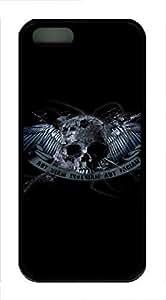 iPhone 5 5S Case Skull 4 TPU Custom iPhone 5 5S Case Cover Black by ruishername