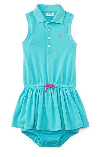 Ralph Lauren Baby Girrls' Sleeveless Polo Dress - Clearly Aqua (6 Months)