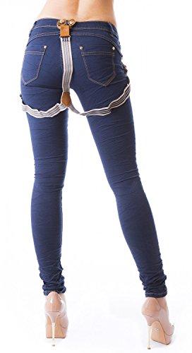 Danaest - Vaqueros - skinny - Básico - para mujer azul marino