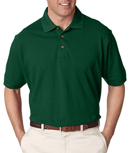 UltraClub Mens Classic Pique Polo(8535)-Forest ()