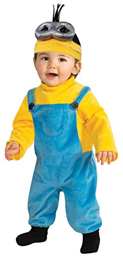 Rubie's Boy's Minion Kevin Fancy Dress Toddler Halloween Funny Costume, Toddler (3-4T) Blue/Yellow