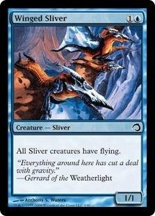 Magic: the Gathering - Winged Sliver - Premium Deck Series: Slivers - Foil (Sliver Deck Magic Gathering)