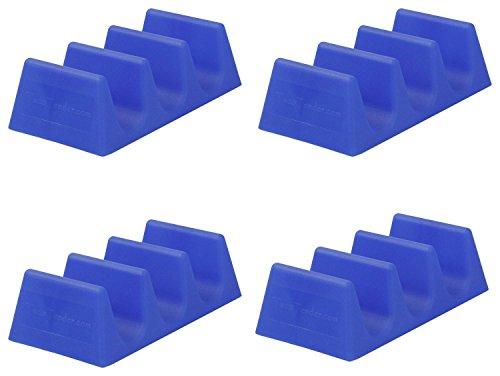 Taco Tender, Taco Holder, Blue, 4 Pack
