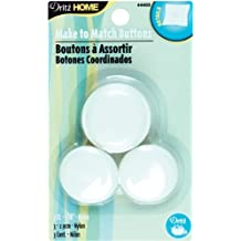 Dritz 44403 No.45 Nylon Upholstery Cover Round Buttons, 1-1/8-Inch, 3-Pack