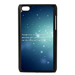 iPod Touch 4 Case Black Harry Potter quotes Protective Hard Phone Case Cover XPDSUNTR15525