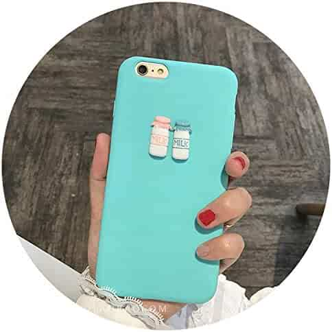 862a4651ec8 3D Coffee Milk Cute Candy Silicone TPU Case for iPhone 5 6 6s 7 Plus 8