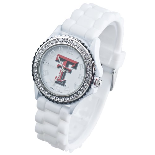 (TEXAS TECH WATCH WHITE-TEXAS TECH RED RAIDERS WHITE LADIES JELLY WATCH)