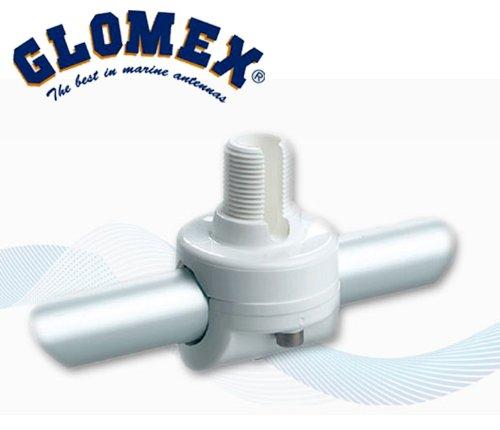 GLOMEX RA145 FILETAGE standard 22-25mm 1  X14 SUPPORT en NYLON RENFORC/ÉE pour ANTENNES GPS par exemple pour Evermore SA-320 SA-920 Marine GPS BALCON HORIZONTALE