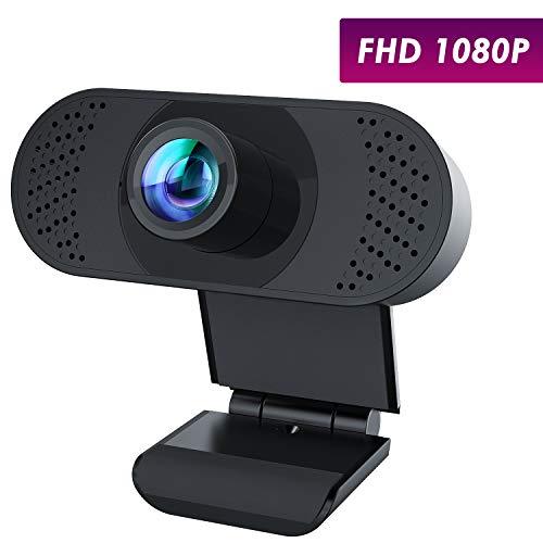 🥇 usogood Webcam HD 1080P PC Cámara Web con micrófono con cancelación de Ruido y Clip Giratorio para PC/Mac/Laptop/Macbook/Tablet para transmisión en Vivo