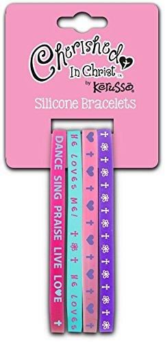 Dance Sing Praise Silicone Bracelet Set - Christian Fashion (Kerusso Christian Accessories)