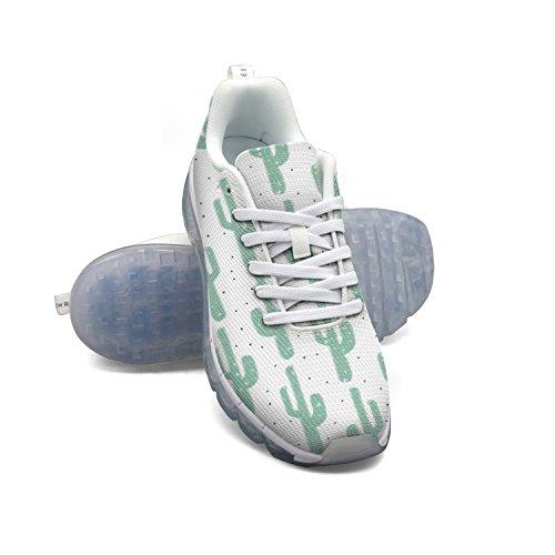 Faaerd Verde Chiaro Cacti Donna Mesh Traspirante Grande Cuscino Daria Scarpe Sportive Scarpe Da Corsa