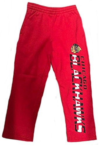 Outerstuff Youth Chicago Blackhawks Red Post Practice Open Bottom Sweatpants (S=8)