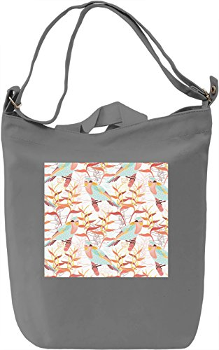 Birds Print Borsa Giornaliera Canvas Canvas Day Bag| 100% Premium Cotton Canvas| DTG Printing|