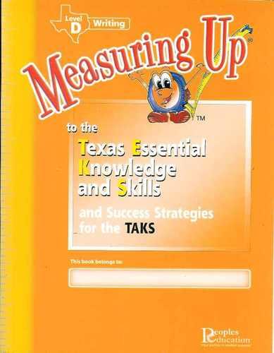 Read Online Measuring up Texas Writing Level D pdf epub
