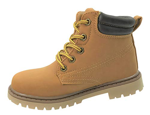 Boot Classic Work - Classic Work Boots Lace-Up Ankle High Top Tan 3