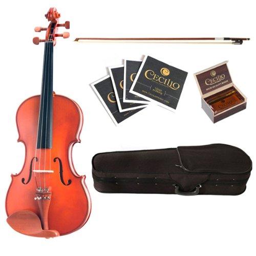 Cecilio CVA-400 14-Inch Solid Wood Flamed Viola by Cecilio