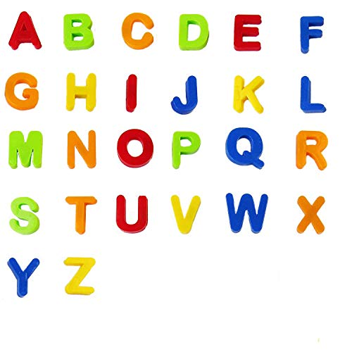 Trimming Shop Magnetic Alphabet Letters Uppercase For Kids Learning, Education, Spelling Skills, Multicolour, 26pcs
